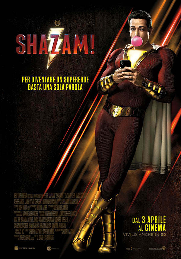 Shazam! Poster Italia