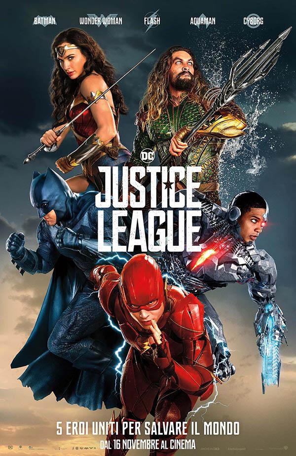 Justice League_Poster Ufficiale Italia
