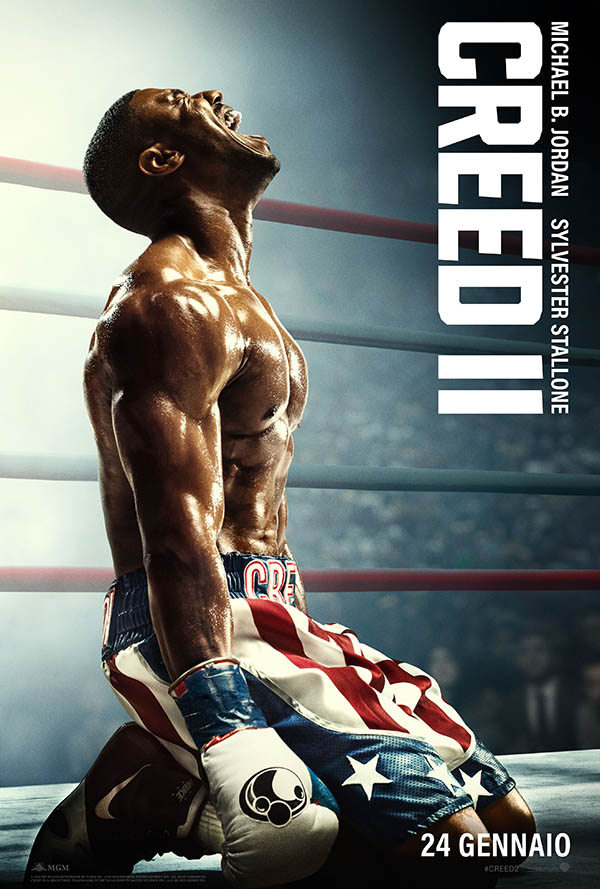 Creed II - Poster Ufficiale Italiano con Michael B. Jordan