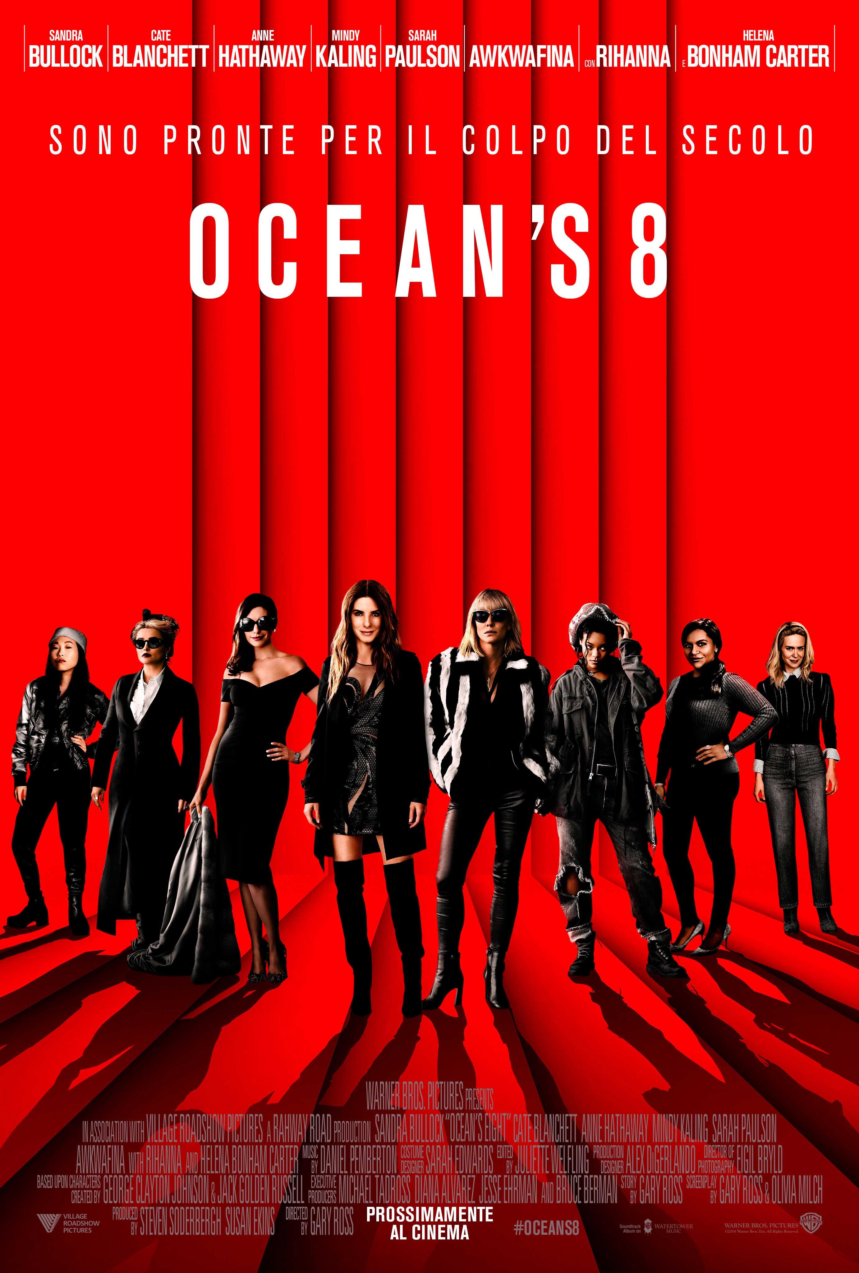OCEAN'S 8 - Poster Ufficiale Italiano del Film