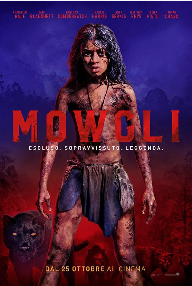 Mogwli Il Figlio della Giungla: Poster Italiano