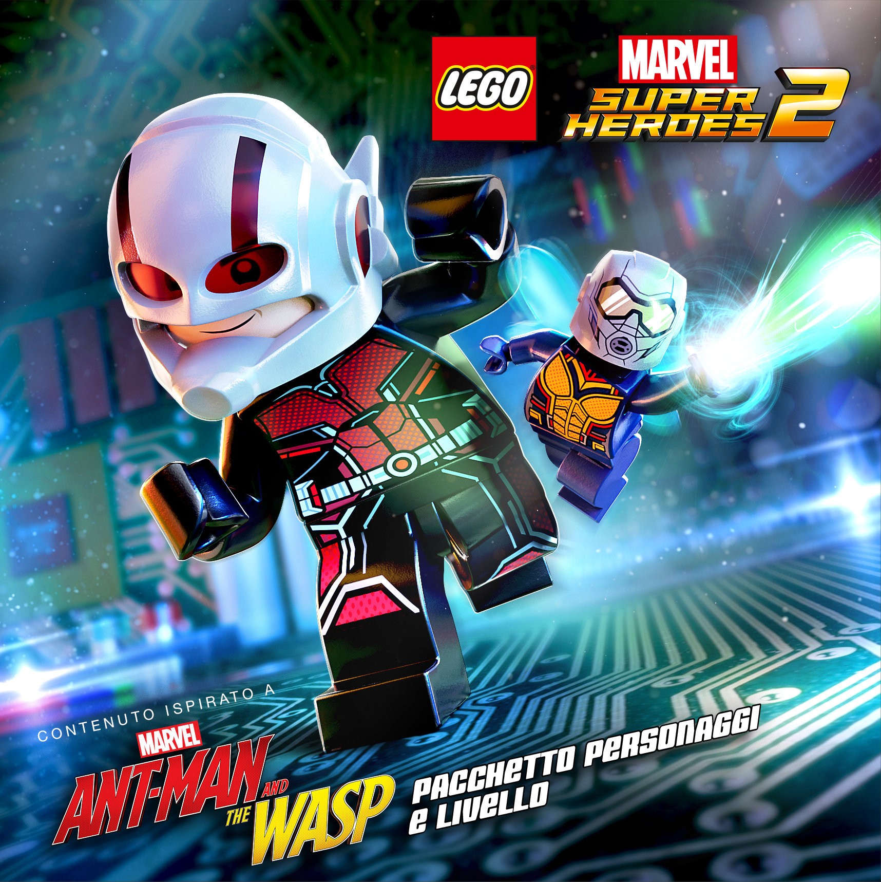"""LEGO® Marvel Super Heroes 2 - DLC """"Marvel's Ant-Man and the Wasp"""" artwork"""