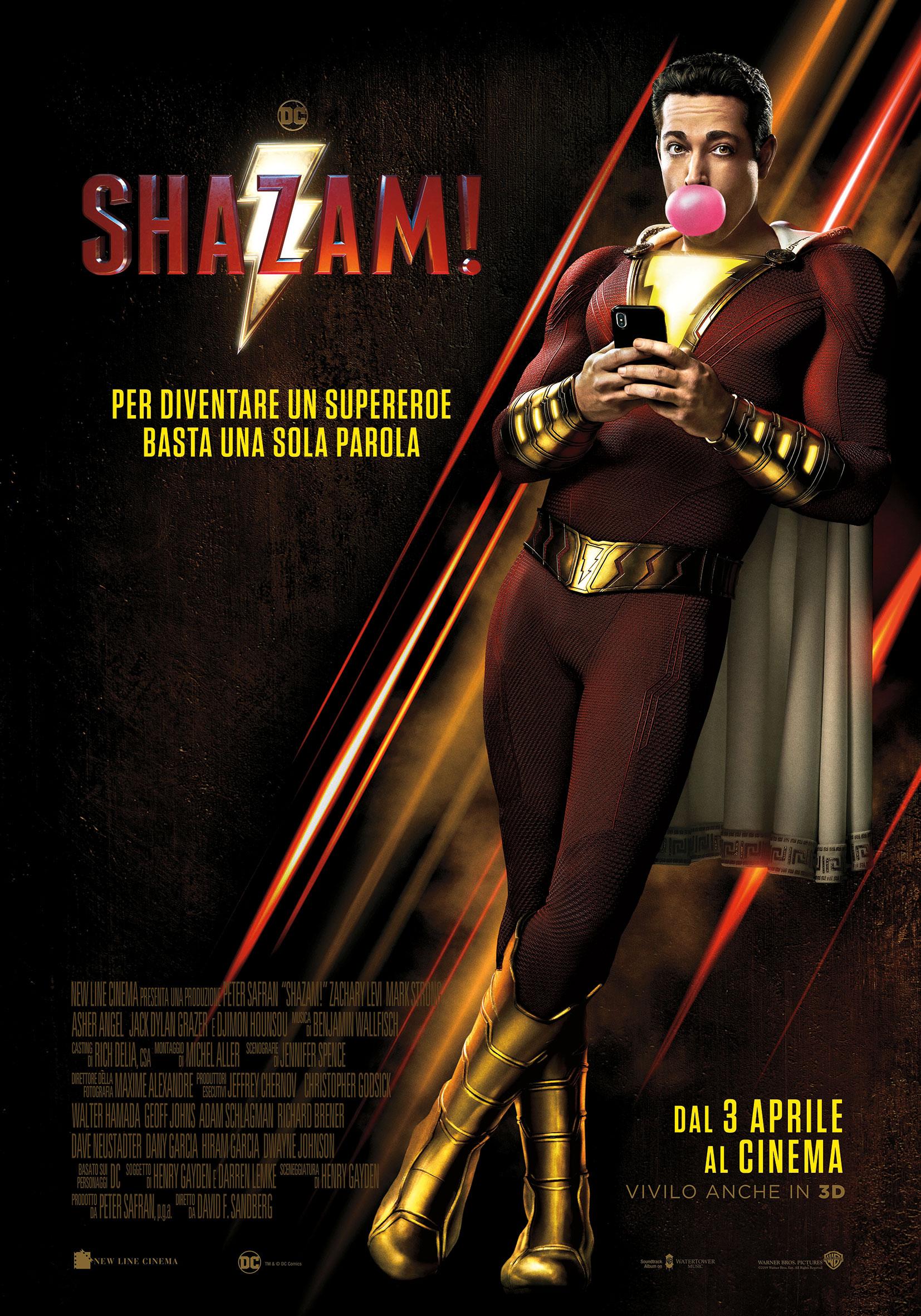 Shazam! - Poster Ufficiale Italiano del film