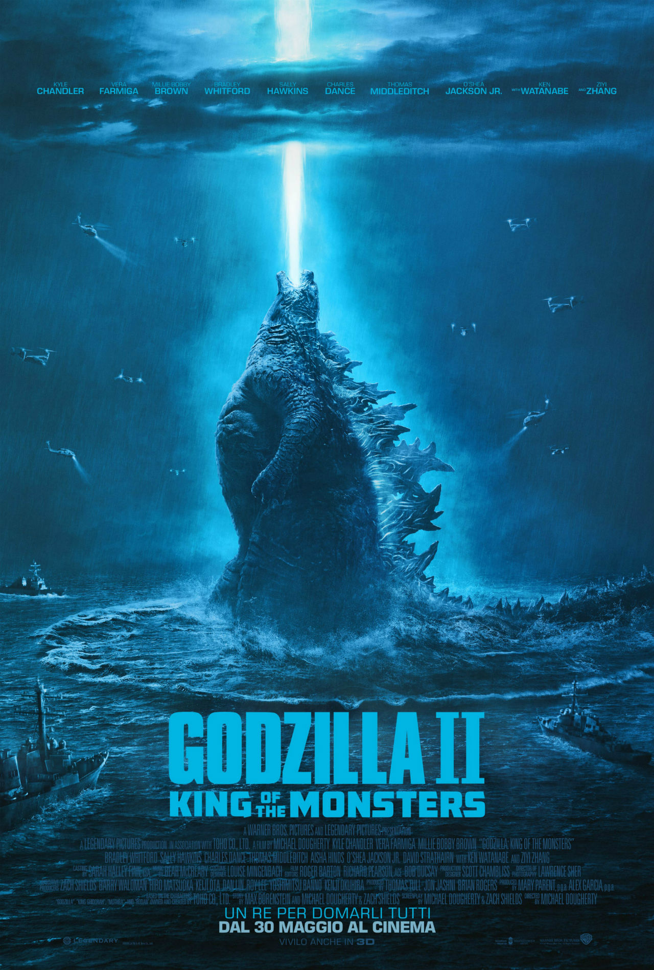 Godzilla II King of the Monsters_Poster Italia