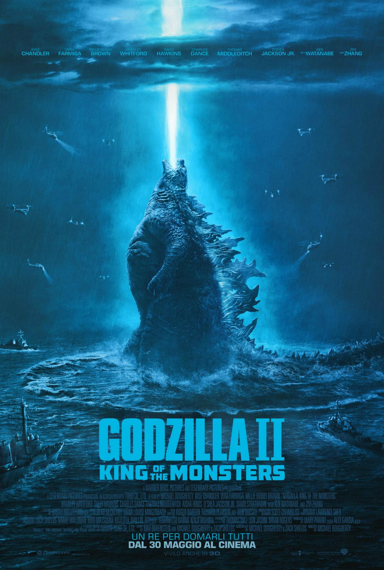 Godzilla II King of the Monsters_Poster Italia