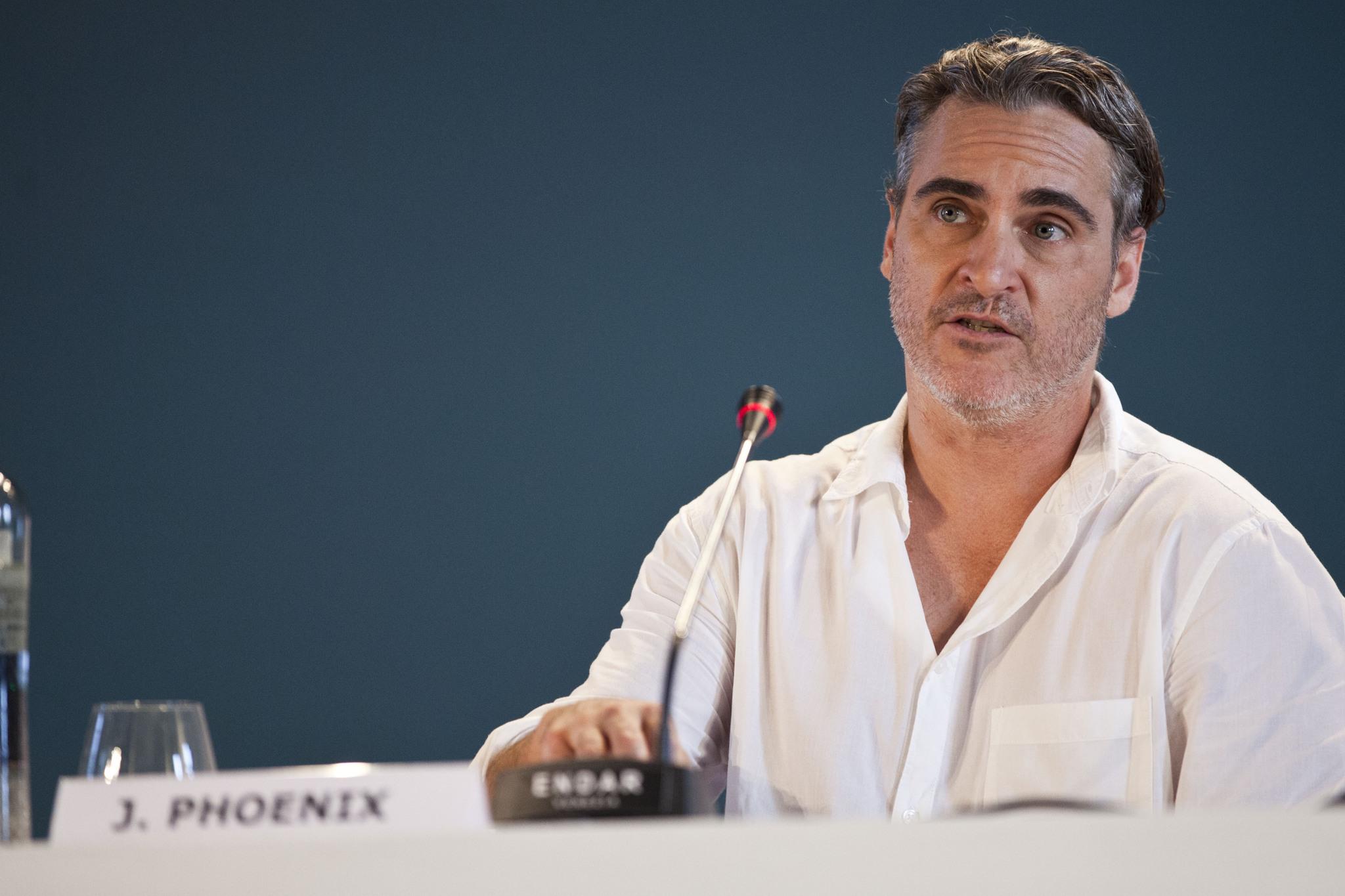 Joaquin Phoenix Conferenza Stampa per Joker film in concorso al Festival del cinema di Venezia 1