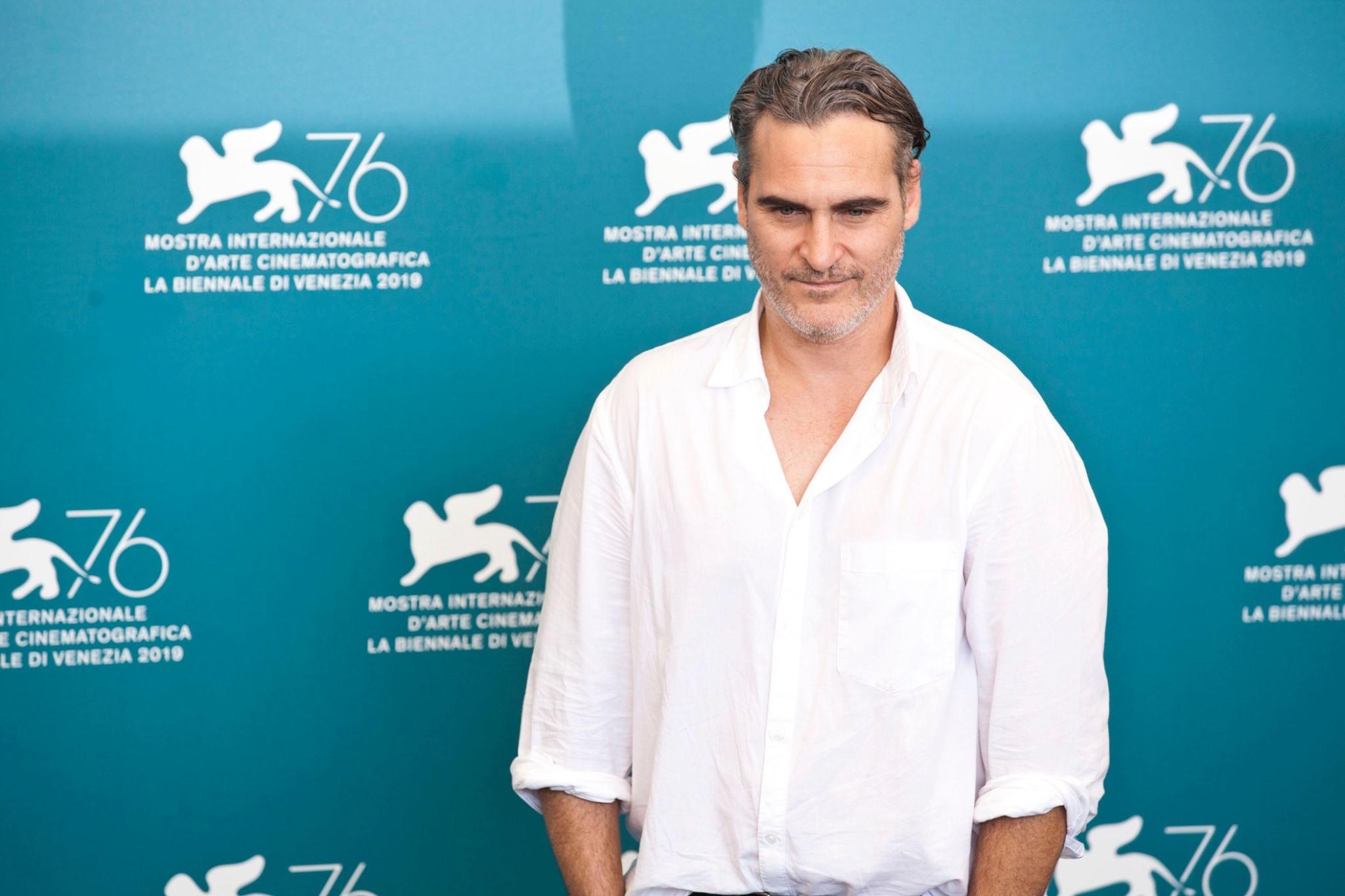 Joaquin Phoenix Photocall per Joker film in concorso al Festival del cinema di Venezia 2