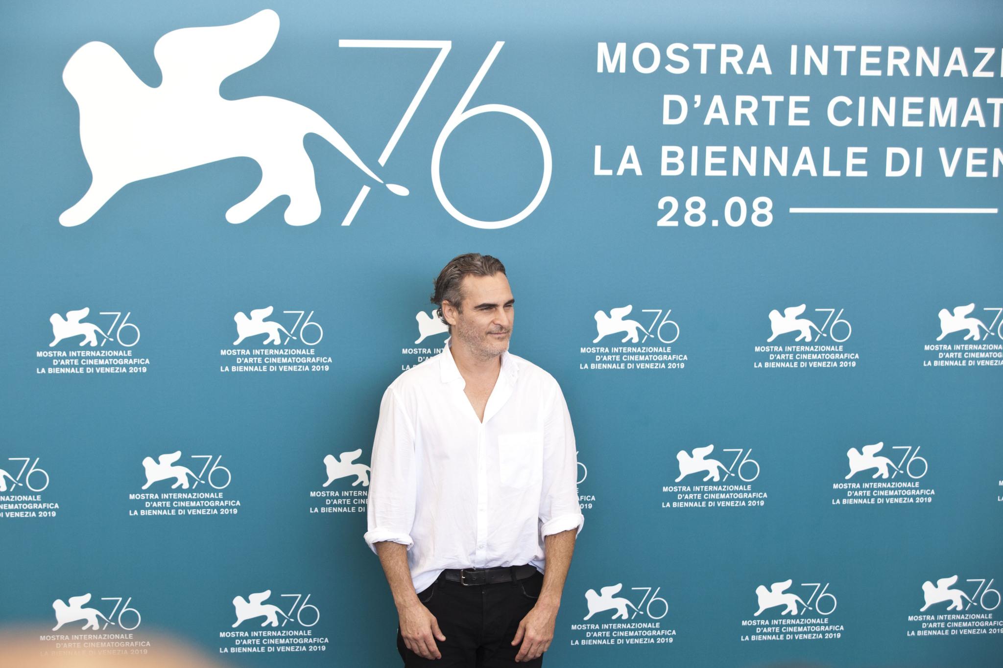 Joaquin Phoenix Photocall per Joker film in concorso al Festival del cinema di Venezia 3