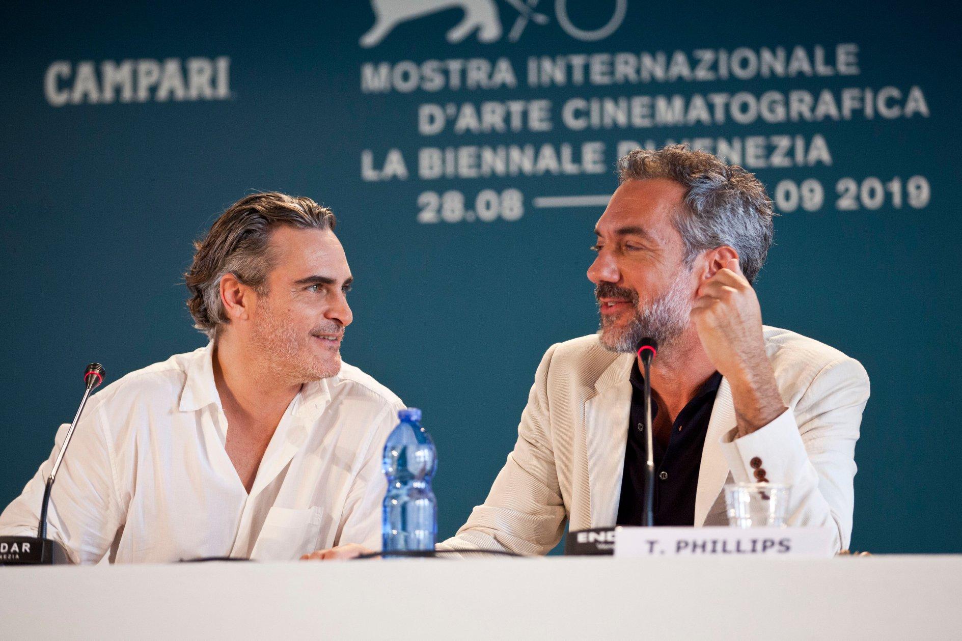 Joaquin Phoenix e Todd Phillips Conferenza Stampa per Joker film in concorso al Festival del cinema di Venezia 1