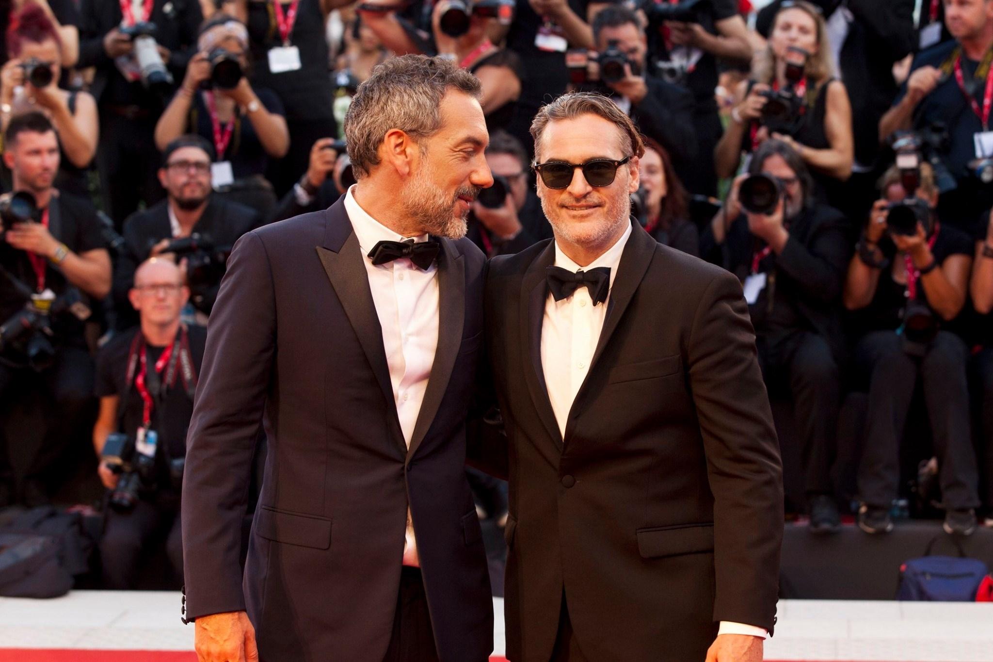 Joaquin Phoenix e Todd Phillips Red Carpet per Joker film in concorso al Festival del cinema di Venezia 1