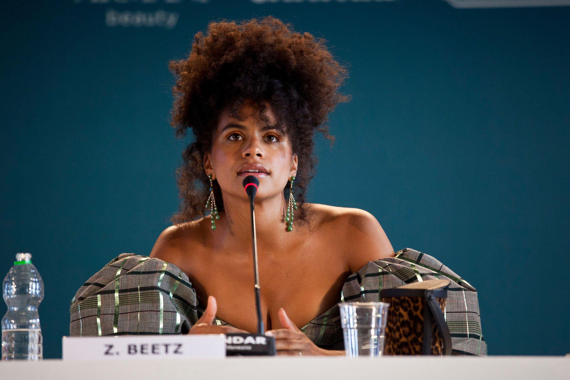 Zazie Beetz Conferenza Stampa per Joker film in concorso al Festival del cinema di Venezia 9
