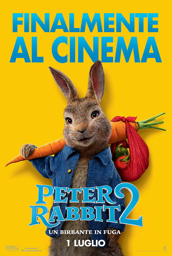 Peter Rabbit 2   Un birbante in fuga_Teaser Poster Italia
