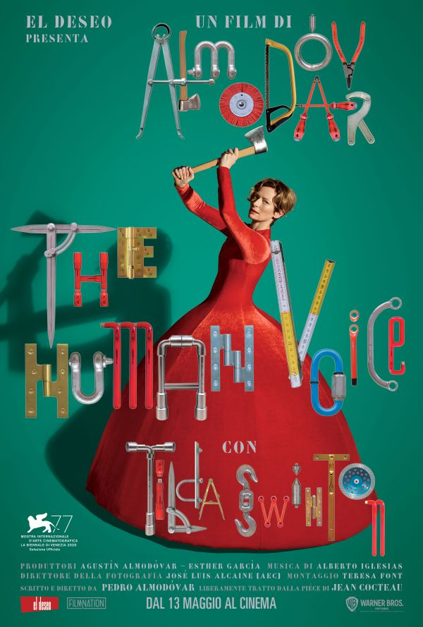 THE HUMAN VOICE poster italiano